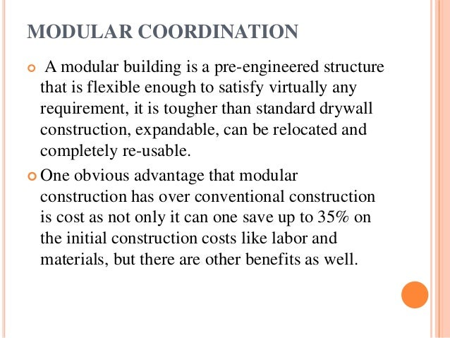Industrialised Building Systems Modular Coordination