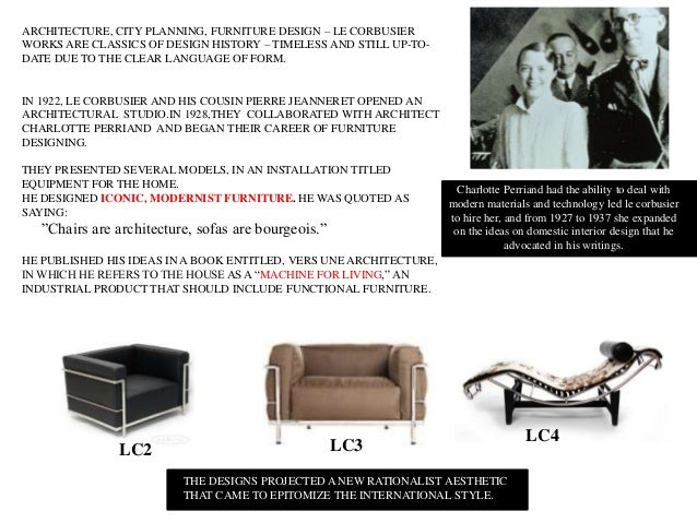 Furniture Design History le corbusier- chair designs