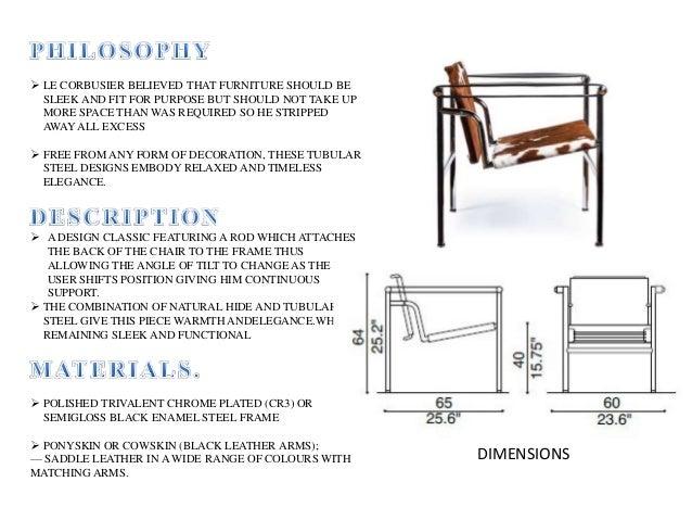 Le corbusier chair designs for Dimension chaise longue
