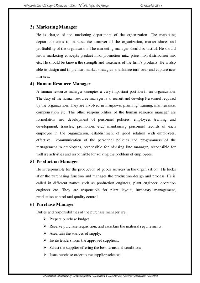 Internship Report Format Doc Image Gallery - Hcpr