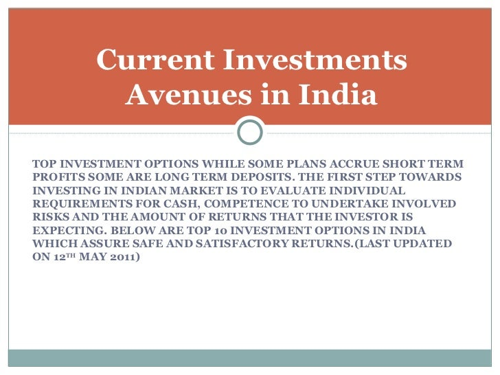 investment avenues in stock market Investing in stocks can be tricky business master the basics of stock investing and learn how to invest in stocks with confidence before you buy a stock.