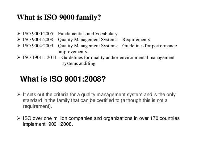 iso 9000 and 9001 The iso 9000 quality standards were broken into three model sets—iso 9001, iso 9002, and iso 9003 each of these models, noted industrial management contributors stanislav karapetrovic, divakar.