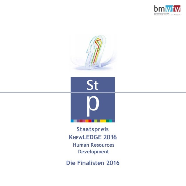 Staatspreis KNEWLEDGE 2016 Human Resources Development Die Finalisten 2016