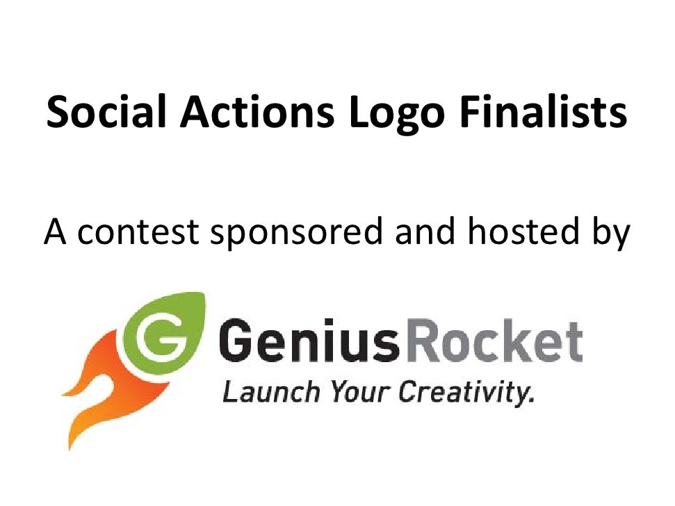 Social Actions Logo Finalists  A contest sponsored and hosted by