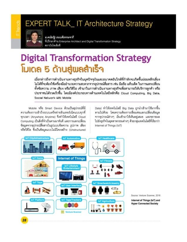 Digital Transformation Strategy :IMC Institute's e-Magazine