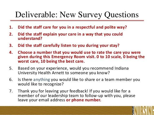 IUHA ED Patient Satisfaction Quality Improvement Presentation