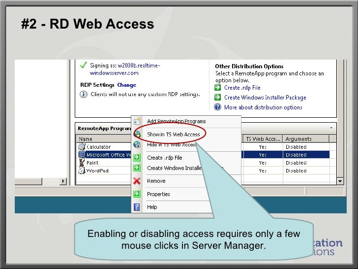 WinConnections Spring, 2011 - How to Securely Connect Remote Desktop …