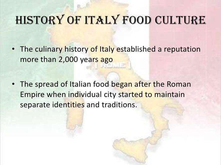 The history of italian cuisine history essay
