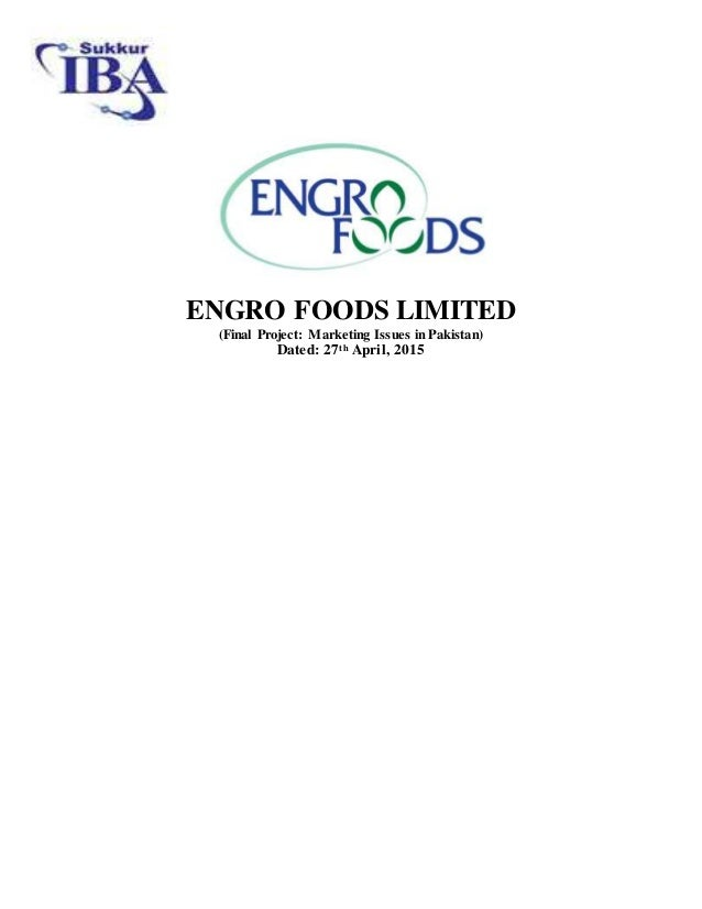 engro foods main project report This free leadership essay on dissertation: engro foods limited organisational cultures and leadership styles is perfect for leadership students to use as an example.