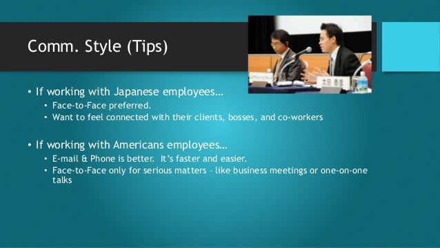 the japanese business and culture Japanese work environment many both in and outside japan share an loyalty to one's company is paramount in the japanese culture many japanese firms only promote from within politeness levels in business japanese.