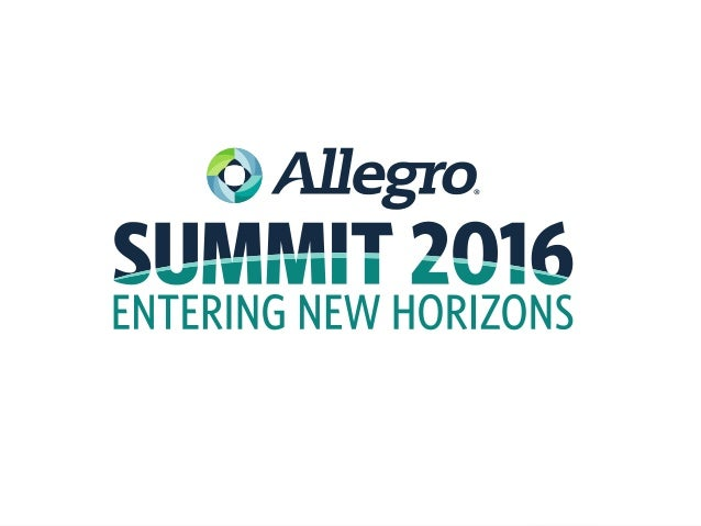 Rainer Landgarf Allegro Product Manager James Stirton Allegro Senior Solution Consultant Gregor Karlovsek Allegro Product ...