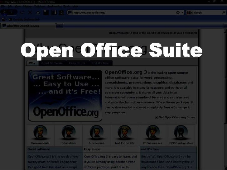 Open Office Suite<br />