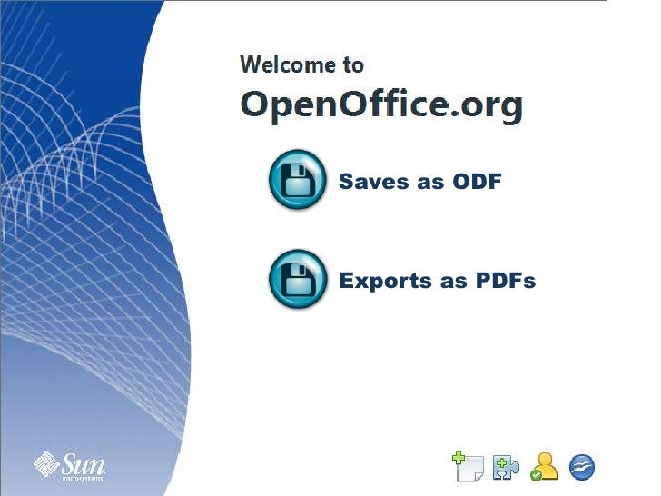 Saves as ODF<br />Exports as PDFs<br />