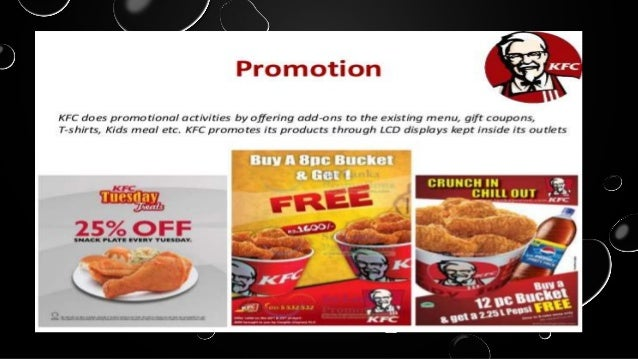 marketing plan of kfc Kfc's entry into the market was slow, and despite opening three initial  success  through the use of its pricing strategy, which was designed to.