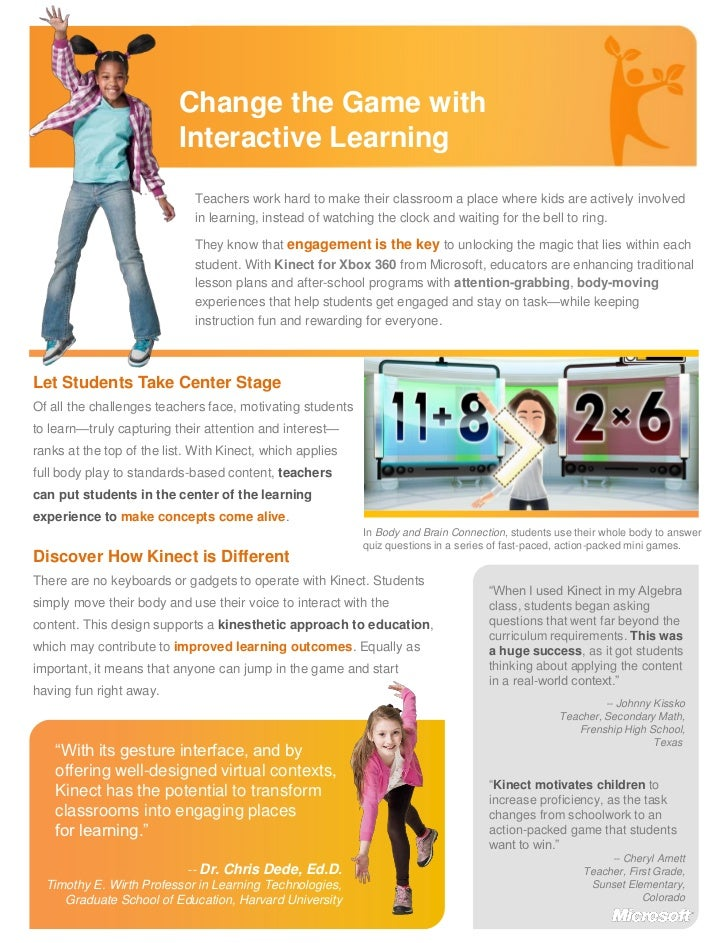 Change the Game with                          Interactive Learning                             Teachers work hard to make ...