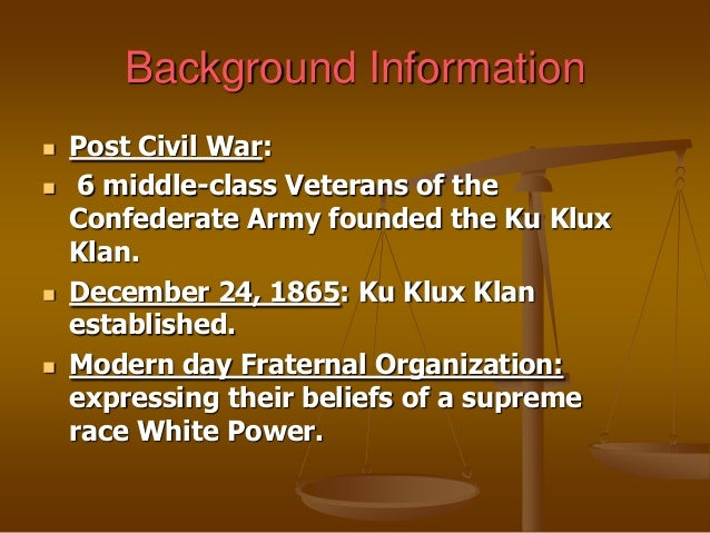 a description of the group of white secret societies the ku klux klan Find out information about the ku klux klan designation mainly given to two distinct secret societies of white supremacist group the ku klux klan if.