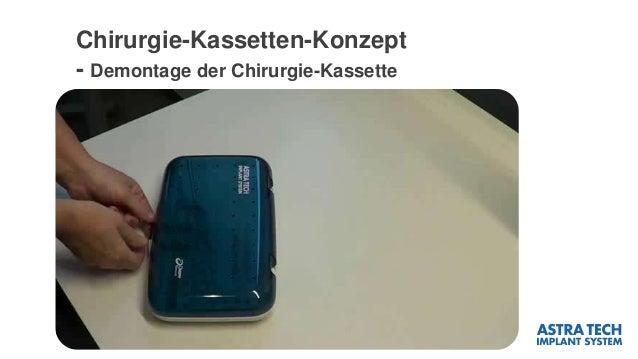 Chirurgie-Kassetten-Konzept - Demontage der Chirurgie-Kassette