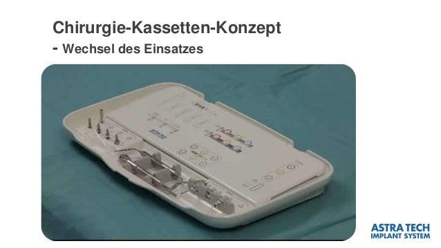 Chirurgie-Kassetten-Konzept - Wechsel des Einsatzes