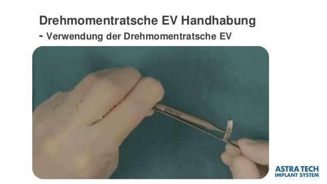 Drehmomentratsche EV Handhabung - Verwendung der Drehmomentratsche EV
