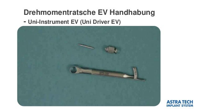 Drehmomentratsche EV Handhabung - Uni-Instrument EV (Uni Driver EV)