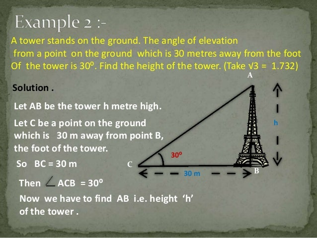 Trigonometry, Applications of Trigonometry CBSE Class X Project