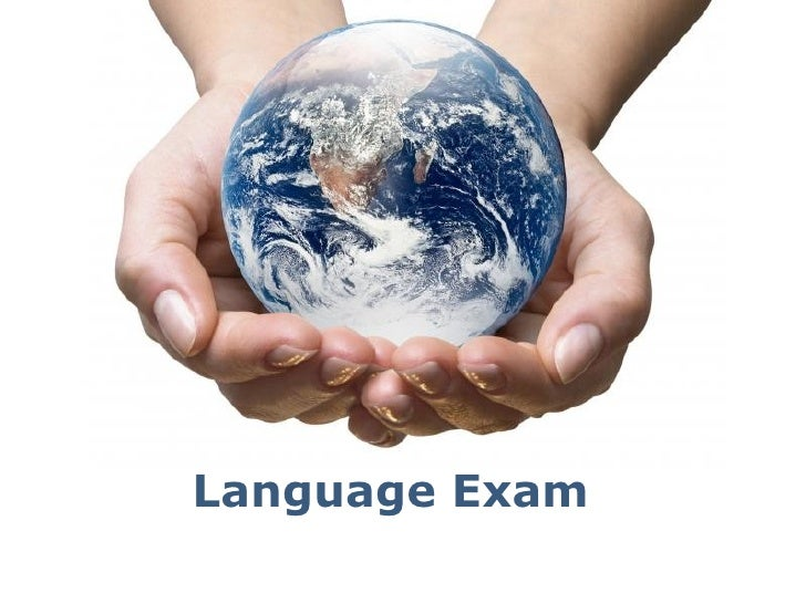 Language Exam   Powerpoint Templates                          Page 1