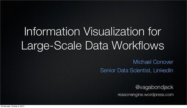 Information Visualization for Large-Scale Data Workflows Michael Conover Senior Data Scientist, LinkedIn @vagabondjack reas...