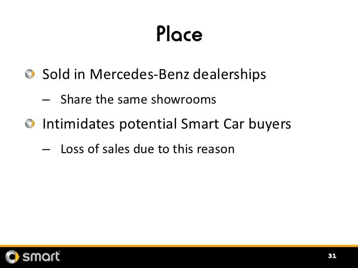 Smart car marketing recommendations for Mercedes benz marketing mix