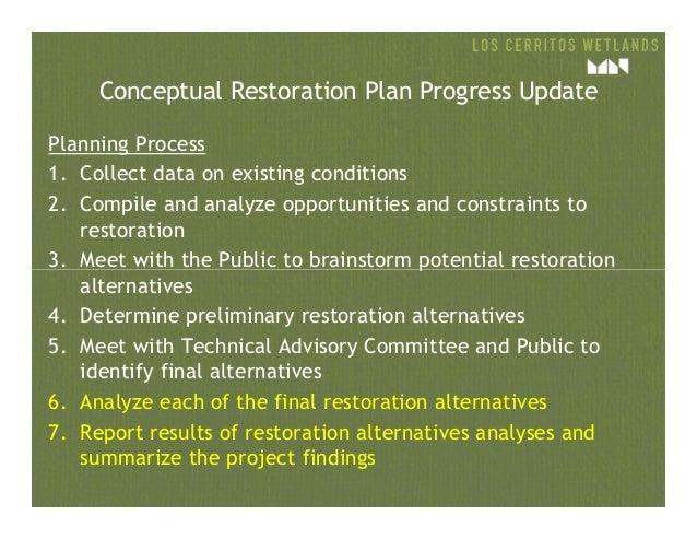 LCW Conceptual Restoration Workshop #6 Slide 3