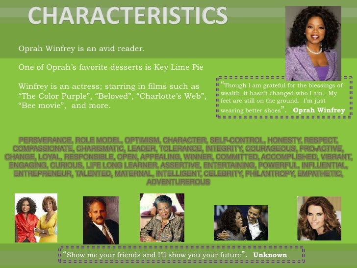 oprah an effective leader According to a recent study, the mentoring effective: young people's  oprah  winfrey leadership academy foundation, girls inc, us dream.