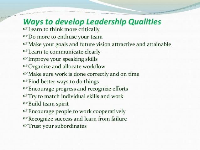 leadership inate or learned