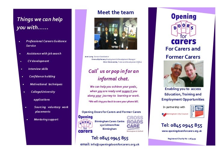 Meet the teamThings we can helpyou with…...   Professional Careers Guidance   Service                                     ...