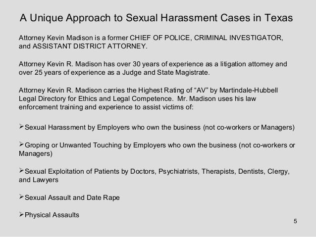 Sexual harassment training in texas