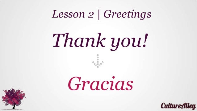 Basic spanish lesson 2 greetings say please sorry thank you et gracias lesson 2 greetings m4hsunfo