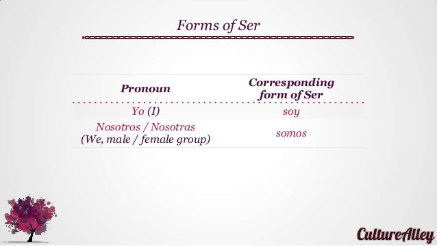 forms of ser