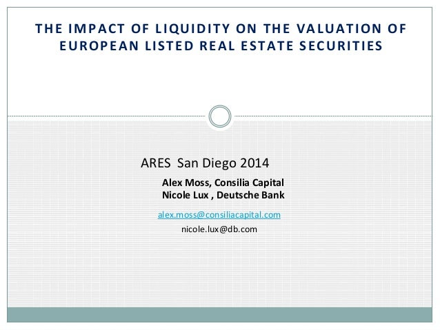 THE	   IMPACT	   OF	   LIQUIDITY	   ON	   THE	   VALUATION	   OF	    EUROPEAN	   LISTED	   REAL	   ESTATE	   SECURITIES	  ...