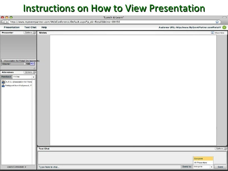 Instructions on How to View Presentation