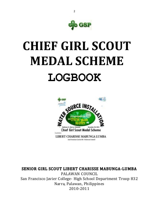 Chief girl scout logbookdimples lumbalawan council 1 palawan council 2 2 chief girl scout yadclub Image collections