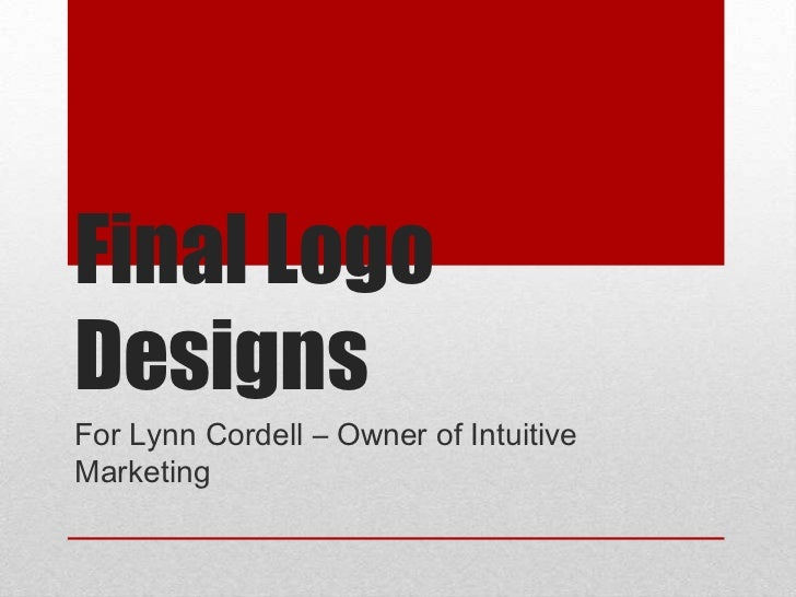 Final LogoDesignsFor Lynn Cordell – Owner of IntuitiveMarketing