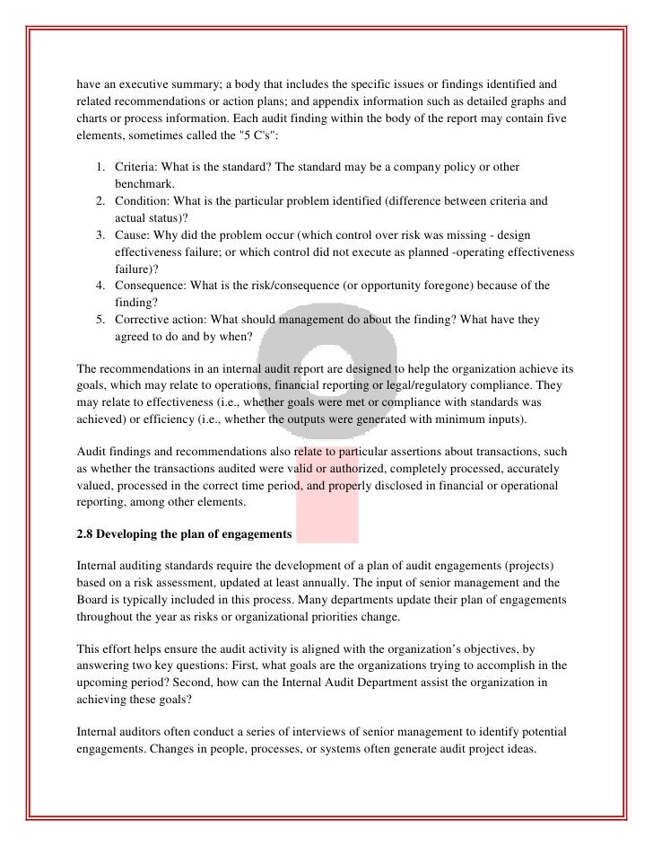 Sample Internal Audit Report      Examples in PDF  Word Template net
