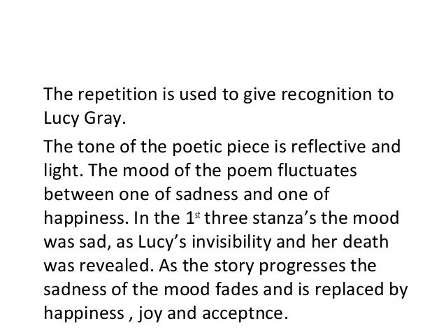 Critical Analysis Of The Poem Lucy Gray