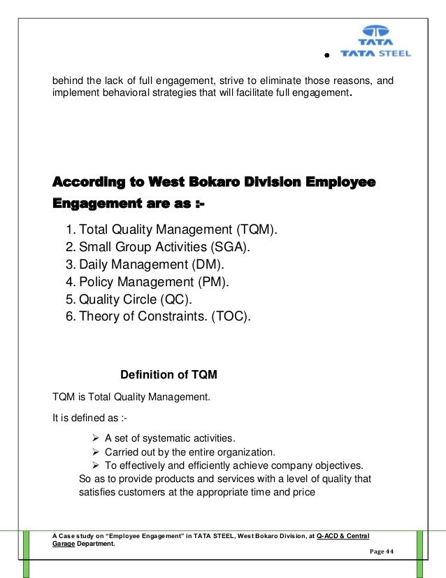 employee engagement project report pdf