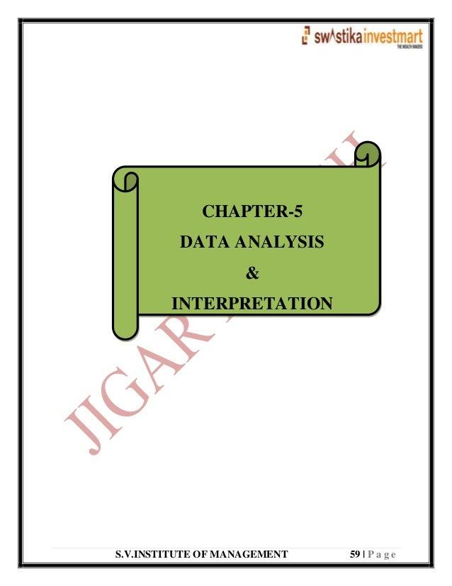 S.V.INSTITUTE OF MANAGEMENT 59   P a g e CHAPTER-5 DATA ANALYSIS & INTERPRETATION