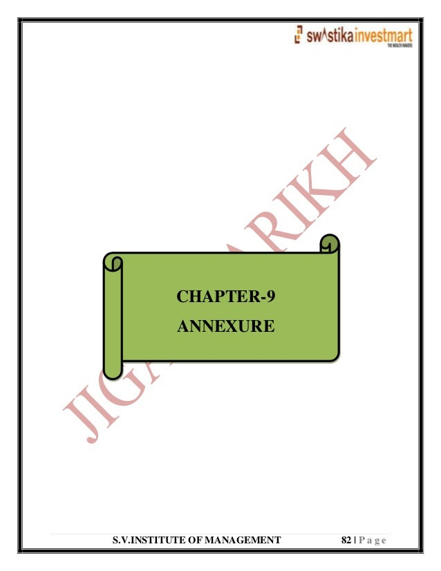S.V.INSTITUTE OF MANAGEMENT 82   P a g e CHAPTER-9 ANNEXURE