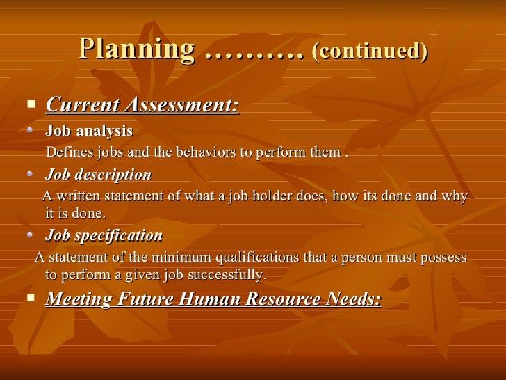 a discussion of the relevance of human resources planning to contemporary organizations This course covers the fundamentals of nonprofit administration including  of contemporary nonprofit organizations,  discussion on human resources 5.