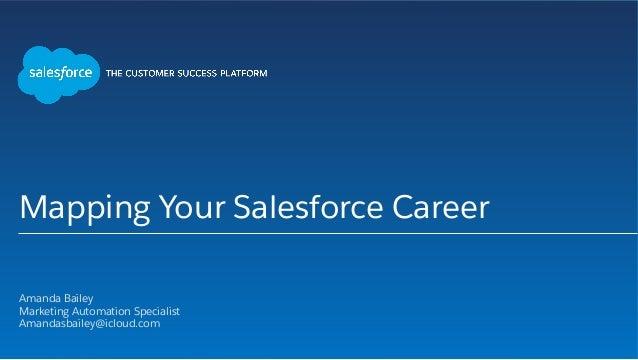 Mapping Your Salesforce Career Amanda Bailey Marketing Automation Specialist Amandasbailey@icloud.com 