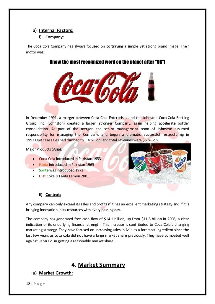coca cola business plan pdf
