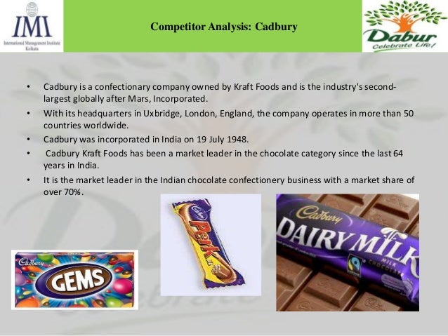confectionery industry analysis for kraft cadbury Swot analysis -cadbury - download other competitors life kraft the confectionery market is characterized by a high degree of merger and acquisition.