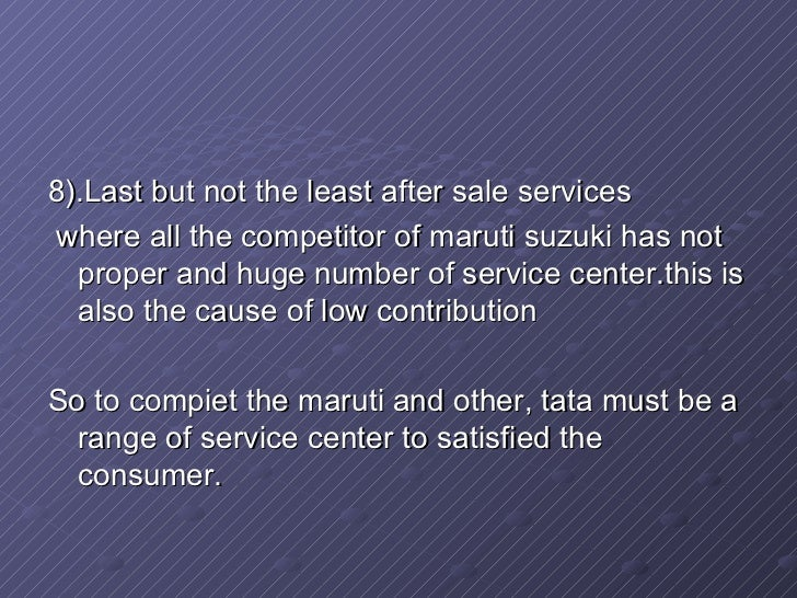 tata nano market segmentation The tata nano is a city car manufactured by tata motors made and sold primarily  in india  it was anticipated that its 2009 debut would greatly affect the used car  market, and prices did drop 25–30% prior to the launch  sales declined rapidly  year on year leading to a negligible market share of the car in the a segment.