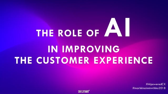 Copyright © Dagmar Oy THE ROLE OF AI IN IMPROVING THE CUSTOMER EXPERIENCE #AIpoweredCX #markkinoinninviikko2018